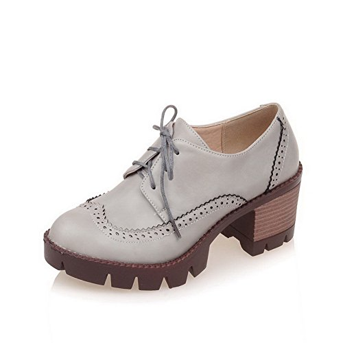 allhqfashion-womens-soft-material-lace-up-round-closed-toe-kitten-heels-solid-pumps-shoes-gray-38
