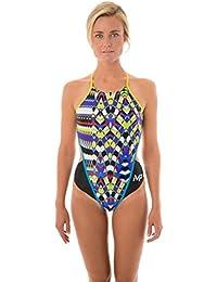 MP Michael Phelps–Pimlico Mujer Bañador–Negro/Amarillo, 28, mujer, Pimlico, negro, amarillo