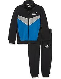 Puma–Chándal para niños Active Graphic Sweat Suit B, infantil, Active Graphic Sweat Suit B, cotton black-Nrgy yellow, 176