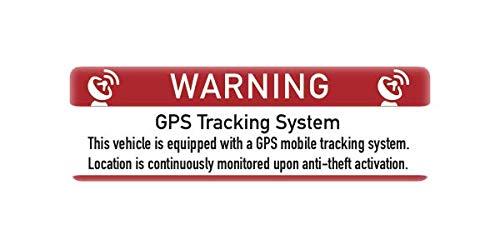 trofimena 4 Stück GPS Aufkleber für Auto, LKW und Wohnwagen - Alarm Aufkleber - Innenklebend