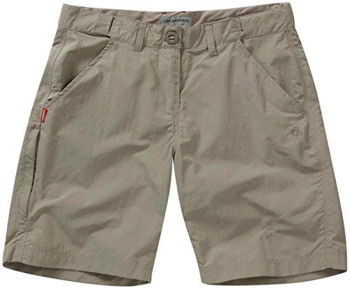 Craghoppers NosiLife Short pour femme Mesdames Casual Summer Beach Combat Chino Pantalon pour homme Gris