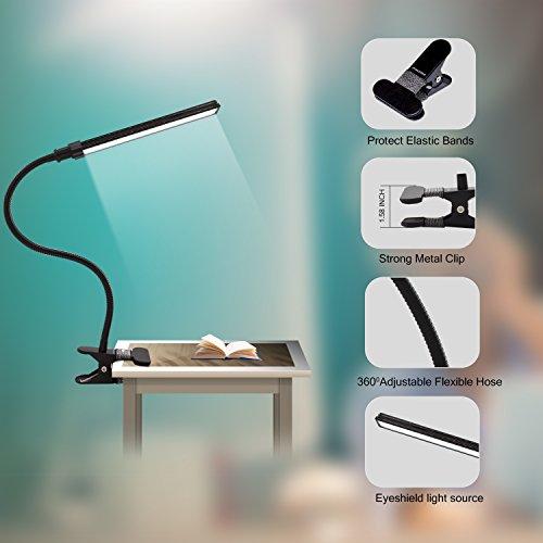 ALOTOA/ CLIP LED luce 5W LED flessibile con porta USB 2 Livello dimmerabili lavoro Eye-Care per lettura di notte Button potente