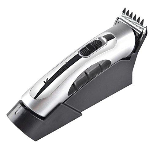HHRONG Professionelle Haarschneider Elektrische Trimmer Grooming Kit, Wiederaufladbare Und Cordless Haircut Clipper mit Basis von - Trimmer Haircut Kit