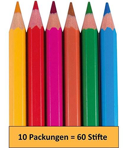 Libetui 10 Sets fröhliche Farben Buntstifte Gastgeschenk für Kinderparty Mitgebsel Kinder Geburtstag Geschenk Hochzeit