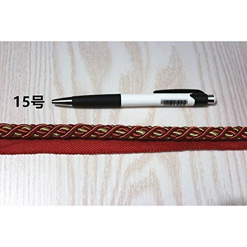 HYZKJ Seil 5 Yards 24 Farben 10Mm Verdreht Seil DREI Stränge Schnur Für Kissen Kissen Tasche Sofa Stuhl Dekorative Accessoires,15 (Schnur 3 Stränge)