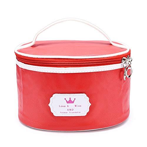 Stockage Maquillage Sac Portable Réutilisable pour Fille Femme Pendaison Trousse de Toilette Salle de Bain Portable Sac Cosmétique(Red)