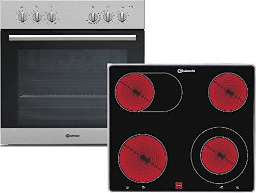 Bauknecht HEKO 555 Pyro Backofen-Kochfeld-Kombination -Einbau / 59.50 cm /Pyrolyse-Selbstreinigungssystem mit 2 Stufen / Multi-Level-Kochen– gleichzeitiges Zubereiten auf allen drei Backofenebenen