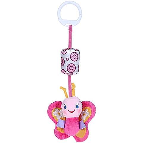 FACILLA®Peluche Juguete Muñeco de Mariposa Animal con Campana de Viento para Bebés