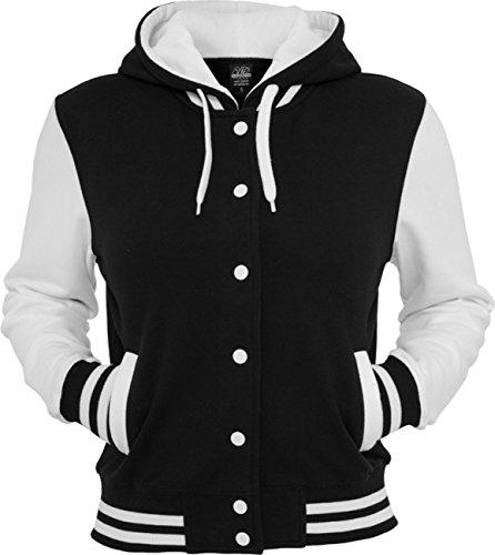 Urban classics veste pour homme college tB389 à capuche pour femme coupe regular Black