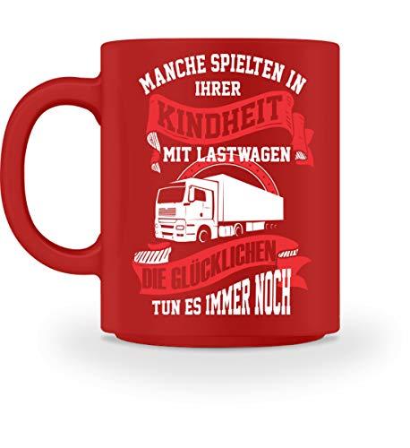 Lastwagen Kaffeetasse · Trucker · Geschenk für LKW-Fahrer · Spruch: Kindheit spielen - Tasse...