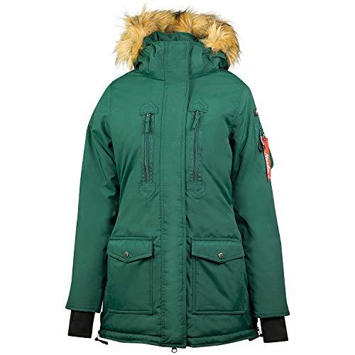 horze Brooke Parka Womens Waterproof Jacket UK 14 Reg Bistro Green