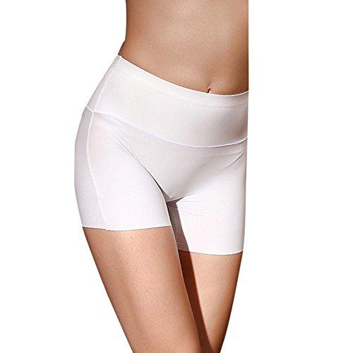 Weiße Nylon Thong Höschen (TIFIY Frauen Damen Fuku hohe Taillen Körper Unterwäsche Bauch Steuer Make Hüften Panty Formwäsche (170, Weiß))