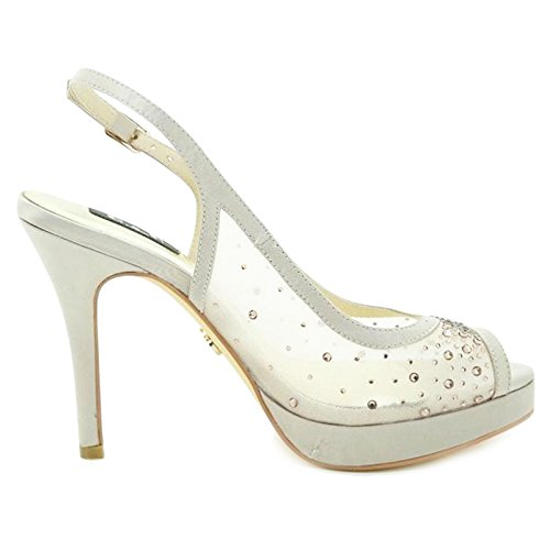 Toocool - Scarpe donna decollete open toe slingback sabot nuove strass Queen Helena S2418 Champagne