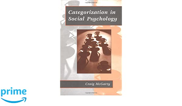 categorization in social psychology mcgarty craig