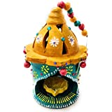Fressia Hanging Big Diya For Decoration | Diya For Puja | Diya Holder Decorative | Diya Lamps For Pooja | Diwali Gifts And Decoration(Handmade)