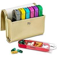 Pillen Travel Organizer–Sehstärke und Medikamenten Wallet Reminder, Pillendose Tablettenbox Behälter Spender... preisvergleich bei billige-tabletten.eu