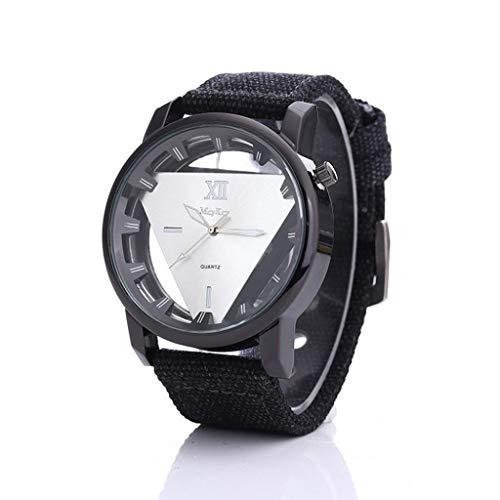 Sansee Männer Nylon Band Armee Zifferblatt Analog Military Sport Einfache Armbanduhr-Mcykcy Mode Einfache Uhr MY0026 (Weiß)