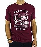2000 Vintage Year - Aged To Perfection - 18. Geburtstag geschenk T-Shirt für Herren Burgund L