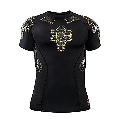 G-Form Compression Shirt Pro-X Schwarz/Gelb, M - Tight-fit Compression Shirt