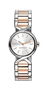 Reloj Cuarzo ESPRIT para Mujer con Plata Analogico Y Oro Rosa Chapado en Acero Inoxidable ES107852006 de Esprit