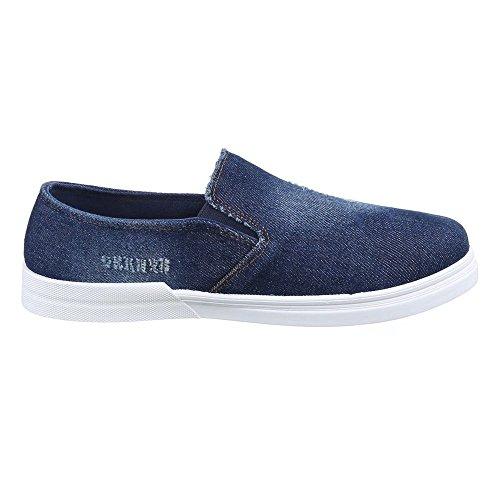 Herren Schuhe, 88-277, HALBSCHUHE FREIZEITSCHUHE USED OPTIK Blau