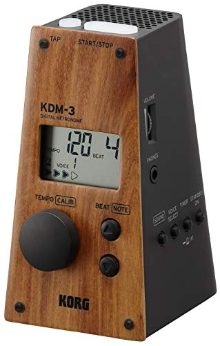 KORG KDM3-WDBK Pyramid Style Digital Metronome - Limited Edition - Wooden Front
