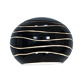 Access Lighting 979WJ-BLKLN Sphere Etched Shade, Black Lined Glass Finish