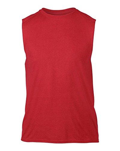 Gildan Gildan Performance Ärmelloses T-Shirt Rot - Rot