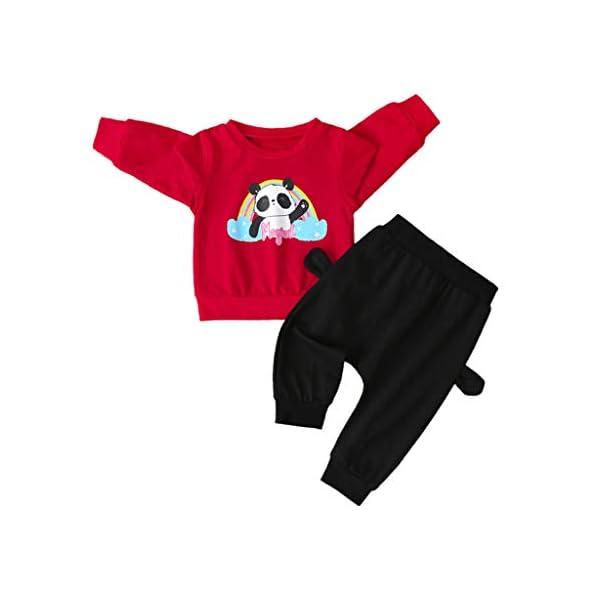 Tefamore Sudadera Niño Conjuntos Chicos y Chicas Conjuntos Chándales y Pantalones Deporte Casual Impresión de Streetwear… 1