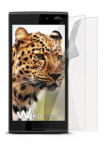 2X Wiko Ridge 4G | Schutzfolie Matt Bildschirm Schutz [Anti-Reflex] Screen Protector Fingerprint Handy-Folie Matte Bildschirmschutz-Folie für Wiko Ridge 4G Bildschirmfolie