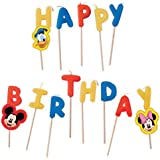"Disney Mickey Mouse Candles ""Happy Birthday"" Set of 13 Pieces"