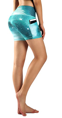 Munvot Yoga Leggings Damen mit Taschen Sporthose Yogahose Tights Fitnesshose Sport Leggings für Damen - Venus(Kurz)/XL (DE44-46)