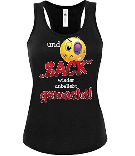 love-all-my-shirts und Zack Wieder Unbeliebt Gemacht 4543 Damen Tank Top (TT-F-SW) Gr. S (Schlampe Damen-tank-top)