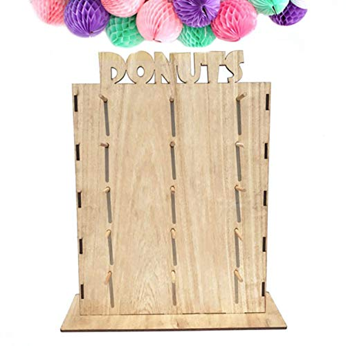 guangxichuangshengxinfu Great Home Crafts Dekoration Holz Doughnut Rack Party Dekoration Baby Shower Party Lieferanten Party Geschenk Ring Hanger(None Small with Letter Doughnut Rack) -