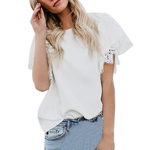 UFACE Cecil Shirt Damen Grün Kurzarm Shirt Damen Grün v Ausschnitt Shirt Damen Grün Lang ()