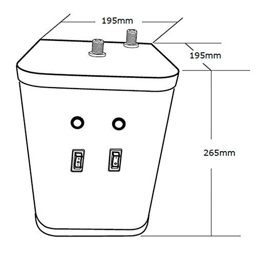 Chrom Instant Hot/Kochendes Wasser Küche Wasserhahn 3 in 1 kaltes Wasser Filter & Heizung Tank - 7