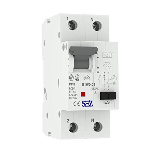 SEZ FI/LS RCBO B16A 30mA 10kA VDE TYP.A Leitungsschutzschalter Fi-Schalter