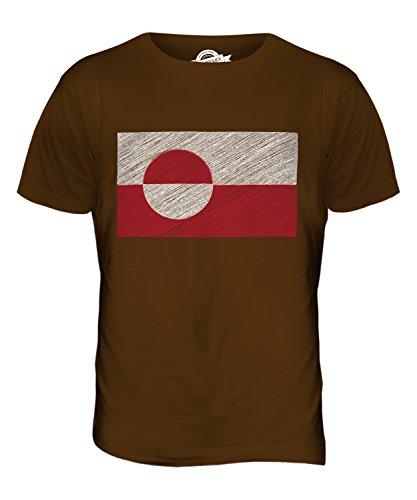 CandyMix Groenlandia Bandiera Scarabocchio T-Shirt da Uomo Maglietta Marrone