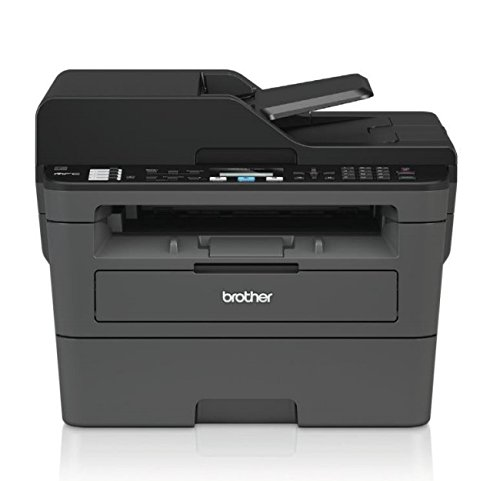 Brother MFC-L2710DN Kompaktes 4-in-1 S/W-Multifunktionsgerät (Drucken, scannen, kopieren, faxen, A4, echte 1.200x1.200 dpi, USB 2.0, Duplexdruck, LAN) (One In Laser-brother All)