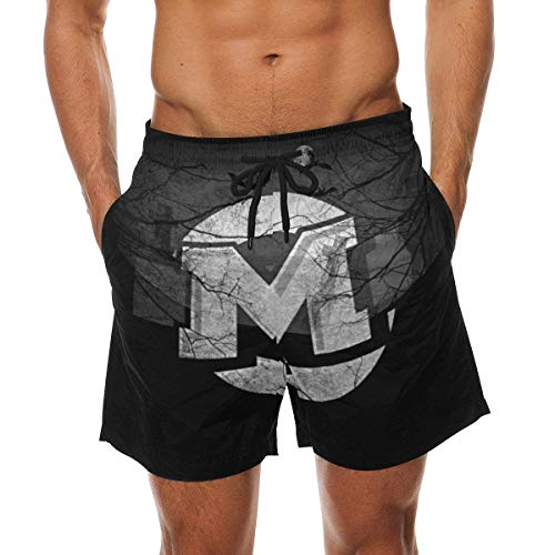 rujas Halloween Summer Beach Shorts Pants Men's Swim Trunks Board Short for Men ()