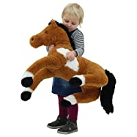 Sweety-Toys 1883 Plush Horse Foal 53 cm brown-white