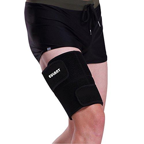 EULANT Oberschenkelbandage, Regulierbare Oberschenkel Bandage für Männer und Frauen, Hilfe für Tendinitis, Muskelverletzungen Reha und Erholung, Sciatic NERV Schmerzlinderung, 1 stück