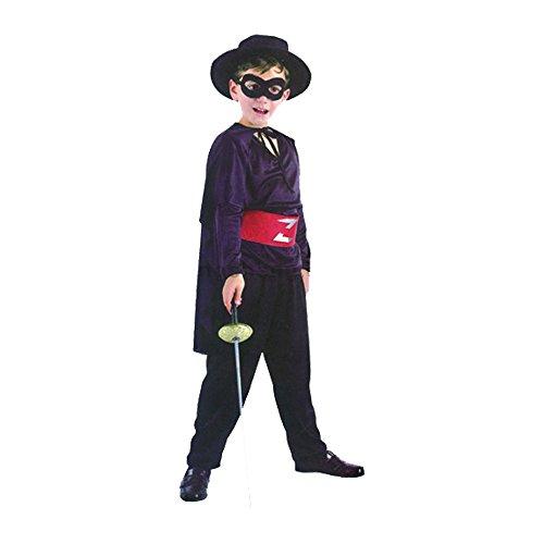 Bermoni Junge Zorro verkleiden Kostüm (7. bis 10y.o). Bandit Kostüm für Kinder (Zorro)
