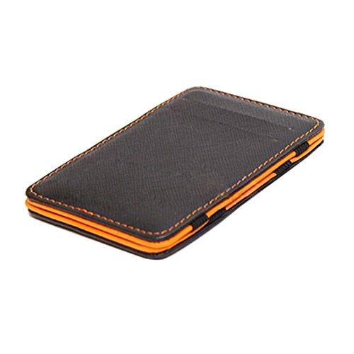 Taschen Kredit ID Karten Männer Cowboy Klassische Leder Geldbeutel Wallet Portemonnaie Herren Orange