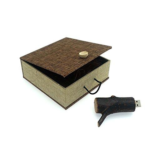 Luckcrazy chiavetta usb 16gb legno usb memoria wooden flash drive toporagno bastone con scatola