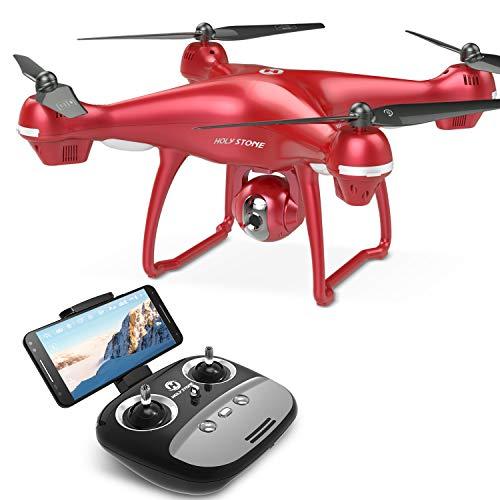 Holy Stone HS100R GPS FPV RC Drohne 1080x mit HD Kamera, RC Selfie Drone, RC Quadrocopter Ferngesteuert RC Helikopter Groß mit 120°Aufnahmewinkel, Verstellbarer WIFI Kamera, Automatischer Höhenhaltung, Automatischer Verfolgung, Kopflosem Modus, Echtzeit-Bildübertragung, Längerer Flugzeit, Eine Taste Start/Landung usw, Geeignet für Kinder, Anfänger und Meister