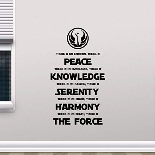 Lvabc Star Wars Wandtattoo Jedi Code Vinyl Wandaufkleber Home Wohnzimmer Dekoration Neues Design Film Poster Beliebte Zitat Aufkleber 32X57 Cm