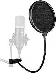 Juarez Pf-100 6-Inch Studio Microphone Pop Filter Shield Mask, Double Mesh Wind Screen With 360° Flexible Goos