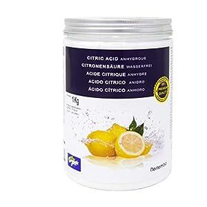 NortemBio Zitronensäure. Wasserfreies Citronensäure Pulver, 100% Reine. Für Ökologischen Produktion. Entwickelt in Deutschland.