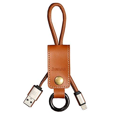Iboxcube @ ciondolo portachiavi in pelle nero Lightning dati cavo di ricarica caricabatterie con portachiavi (Oakley Computer Borse)